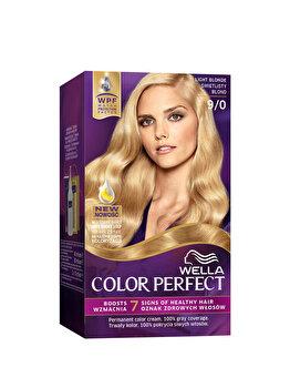 Vopsea de par Wella, Perfect Kit 9/0 Light Blonde, 120 ml imagine produs