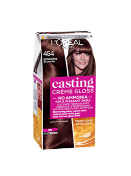 Vopsea de par semi-permanenta fara amoniac L'Oréal Casting Cr?me Gloss, 454 Goji Brown, 180 ml imagine produs