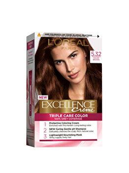 Vopsea de par permanenta L'Oréal Excellence, 5.32 Saten Ciocolata, 192 ml imagine produs