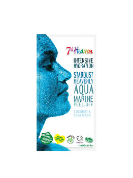 Masca de fata peel-off pentru femei 7th Heaven Stardust Heavenly Aqua Marine, 10 ml imagine produs