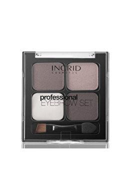 Set de stilizare pentru sprancene INGRID Cosmetics, Brown, 5 g imagine produs