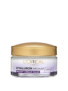 Crema de noapte antirid hidratanta pentru volumul tenului L'Oreal Paris Hyaluron Specialist, 50 ml imagine produs