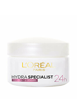 Crema hidratanta pentru fata L'Oréal Paris pentru tenul uscat si sensibil, 50 ml imagine produs