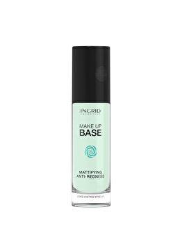 Baza de machiaj profesionala cu efect matifiant si anti-roseata INGRID Cosmetics, Green, 30 ml imagine produs