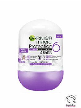 Deodorant antiperspirant roll-on pentru femei Garnier Mineral Protection 6 Floral Fresh, 50 ml imagine produs