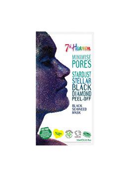 Masca de fata peel-off pentru femei 7th Heaven Stardust Stellar Black Diamond, 10 ml imagine produs