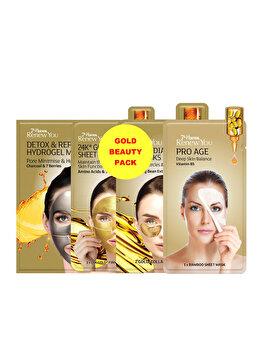 Masca de fata pentru femei 7th Heaven Renew You, Gold Beauty Pack, 4 buc. imagine produs
