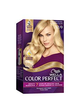 Vopsea de par Wella, Perfect Kit 12/0 Ultra Light Ash Blond, 120 ml imagine produs