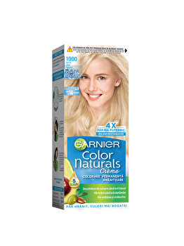 Vopsea de par permanenta cu amoniac Garnier Color Naturals, 1000 Blond Ultra Natural, 110 ml