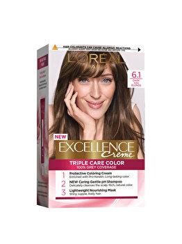 Vopsea de par permanenta L'Oréal Excellence, 6.1 Blond Inchis Cenusiu, 192 ml imagine produs