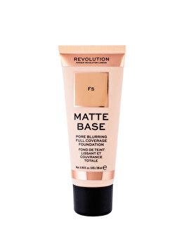 Fond de ten Makeup Revolution London Matte Base, F5, 28 ml imagine produs