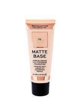 Fond de ten Makeup Revolution London Matte Base, F2, 28 ml imagine produs
