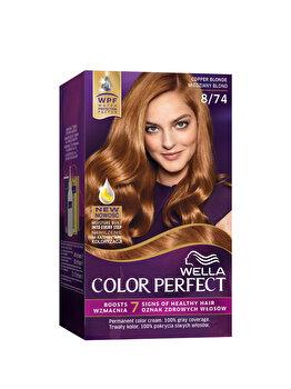 Vopsea de par Wella, Perfect Kit 8/74, Copper Blonde, 120 ml imagine produs