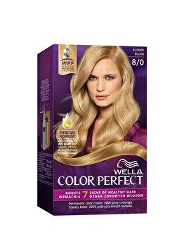 Vopsea de par Wella, Perfect Kit 8/0 Blonde, 120 ml imagine produs