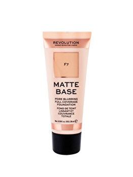 Fond de ten Makeup Revolution Matte Base Foundation, F7, 28 ml imagine produs