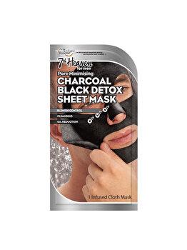 Masca de fata detoxifianta din material textil pentru barbati 7th Heaven Pore Minimising Charcoal, 1 buc. imagine produs