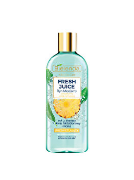 Lichid micelar iluminant cu apa bioactiva de citrice si ananas Bielenda Fresh Juice, 500 ml imagine produs