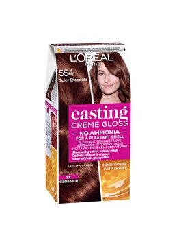 Vopsea de par semi-permanenta fara amoniac L'Oréal Casting Cr?me Gloss, 554 Spicy Choco, 180 ml imagine produs