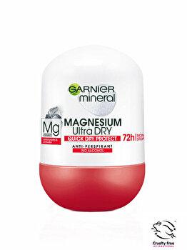 Deodorant antiperspirant roll-on pentru femei Garnier Mineral Magnesium Ultra Dry, 50 ml imagine produs