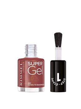 Lac de unghii Rimmel Super Gel, 057 Down to Business, 12 ml