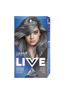 Vopsea de par permanenta Schwarzkopf-Live Color Urban Metallics U72 Dusty Silver, 142,5 ml imagine produs