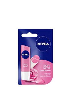 Balsam de buze Nivea Lip Care Rose, 4.8 g poza