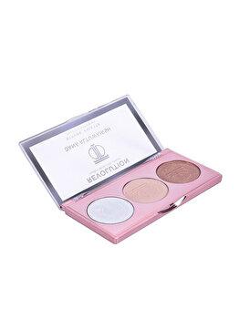 Paleta iluminatoare Makeup Revolution London Strobe Palette x Dana Altuwarish, Brightener for Women, 7.2 g imagine produs