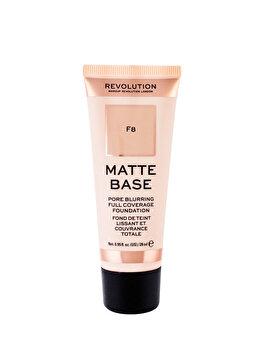 Fond de ten Makeup Revolution Matte Base Foundation, F8, 28 ml imagine produs