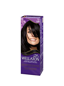Vopsea de par permanenta Wella Wellaton 2/0 Black, 110 ml imagine produs