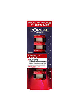 Fiole cu acid glicolic 10% L'Oréal Paris Revitalift Laser, 7 x 1 ml poza