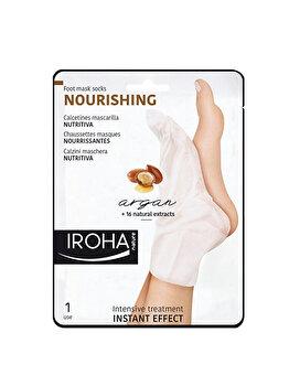 Masca-soseta hidratanta pentru picioare Iroha Nourishing Argan, 1 pereche imagine produs