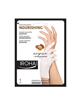 Masca-manusa hidratanta pentru maini si unghii Iroha Nourishing Argan, 2 x 9 ml imagine produs