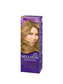 Vopsea de par permanenta Wella Wellaton 8/0 Light Blonde, 110 ml imagine produs