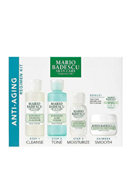 Set Mario Badescu Anti Aging Kit (Spuma curatare, 59 ml + Tonic, 59 ml + Crema, 29 ml + Masca, 14 ml + Crema contur ochi) poza