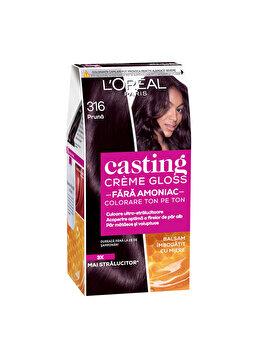 Vopsea de par semi-permanenta fara amoniac L'Oréal Casting Cr?me Gloss, 316 Prune, 180 ml imagine produs