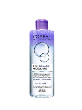 Apa micelara bifazica waterproof L'Oreal Paris Skin Expert pentru ten sensibil imagine produs