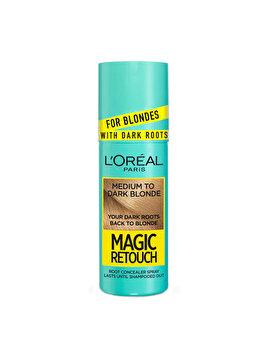 Spray instant pentru camuflarea radacinilor L'Oréal Paris Magic Retouch Dark Roots, 7.3 Blond Mediu Auriu, 75 ml imagine produs