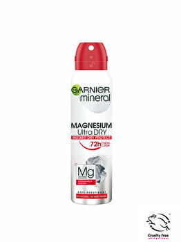 Deodorant antiperspirant spray pentru femei Garnier Mineral Magnesium Ultra Dry, 150 ml imagine produs
