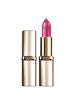 Ruj de buze satinat L'Oréal Paris Color Riche, 431 Fuchsia Declaration, 4.8 g imagine produs