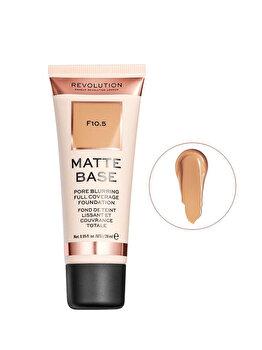 Fond de ten Makeup Revolution Matte Base Foundation, F10.5, 28 ml imagine produs
