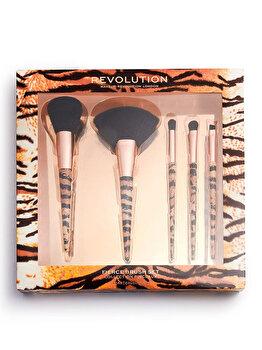 Set 5 pensule machiaj Makeup Revolution Wild Animal Fierce Brush imagine produs