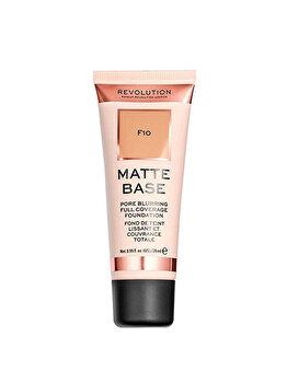 Fond de ten Makeup Revolution Matte Base Foundation, F10, 28 ml imagine produs