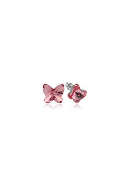 Cercei e-Crystal din Argint 925 placati cu rodiu cu cristale Swarovski Butterfly Light Rose CBUS1010 elefant imagine 2021