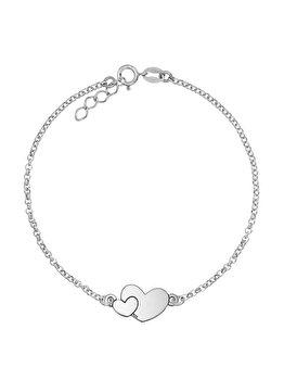 Bratara e-Crystal Argint 925 placata cu rodiu - Inima mica si mare BSHEARTMICMARE elefant imagine 2021