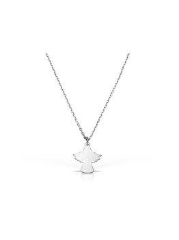 Colier cu pandantiv e-Crystal Argint 925 placat cu rodiu cu cristale Swarovski Ingeras cu aripi COANGELWING elefant imagine 2021