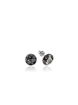 Cercei e-Crystal din Argint 925 placati cu rodiu cu cristale Swarovski Xirius Silver Night CXIS825 elefant imagine 2021