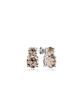 Cercei e-Crystal din Argint 925 placati cu rodiu cu cristale Swarovski Xirius 6 Silk CXIS6898 elefant imagine 2021