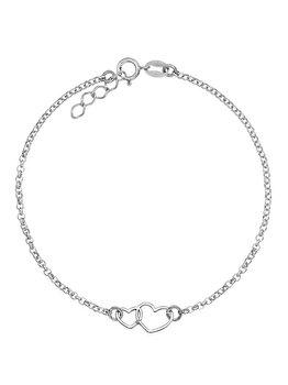 Bratara e-Crystal cu pandantiv din Argint 925 placat cu rodiu BSDOUBLEHEART elefant imagine 2021