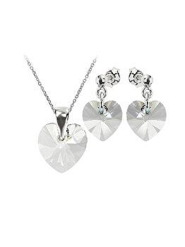 Set e-Crystal din Argint 925 placat cu rodiu cu cristale Swarovski SHSB1043L elefant imagine 2021