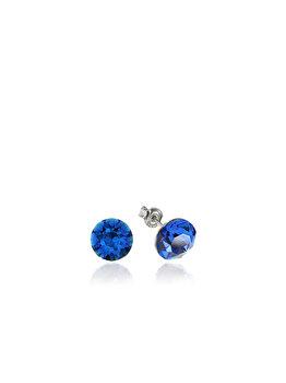 Cercei e-Crystal din Argint 925 placati cu rodiu cu cristale Swarovski Xirius Blue Capri CXIS870 elefant imagine 2021